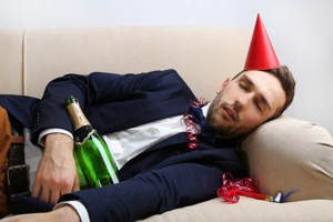 drunk guy at office party
