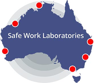 map of drug testing lab locations in Australia