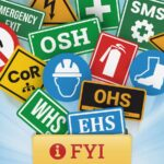 Workplace safety acronyms and signs