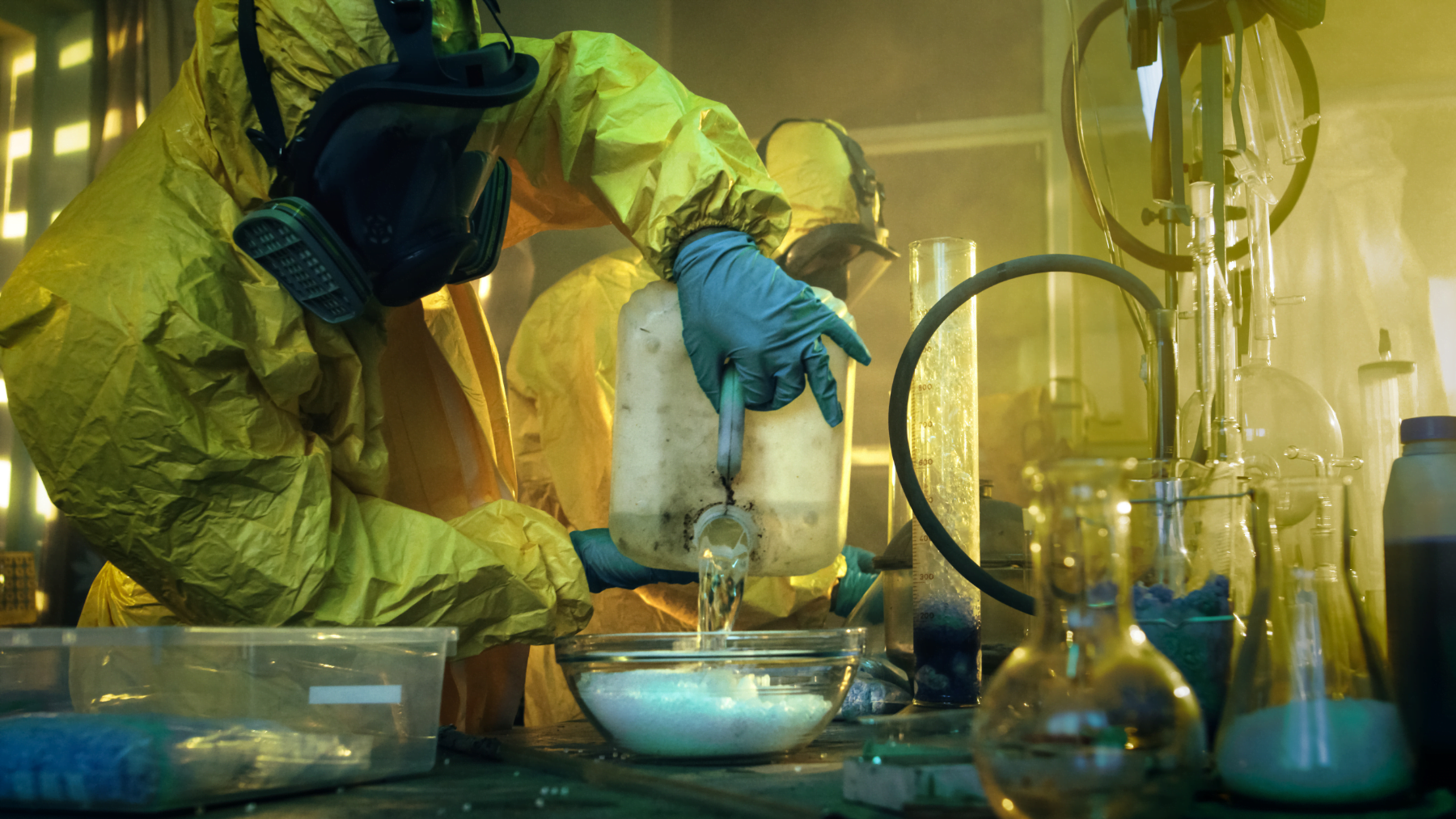 Ice production in a meth laboratory